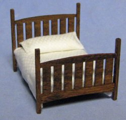 Arts and Crafts Era Bed Quarter-inch scale