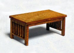 Arts and Crafts Era Coffee Table Quarter-inch scale