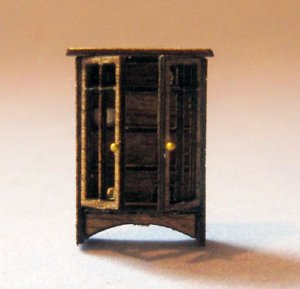 Arts & Crafts Era Curio Cabinet 1/144th scale