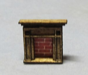Arts & Crafts Era Fireplace 1/144th scale