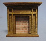 Arts and Crafts Era Fireplace Quarter-inch scale