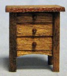 Arts and Crafts Era Nightstand Quarter-inch scale