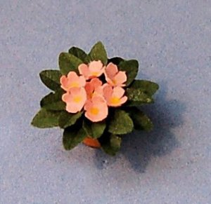 African Violet in a Terra Cotta Pot One-inch scale