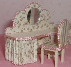 Amanda's Dressing Table and Chair Half-inch scale