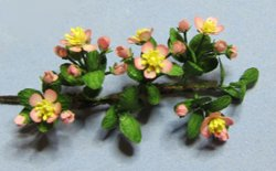 Apple Blossom Branches One-inch scale