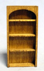 Arched Library Shelves Quarter-inch scale