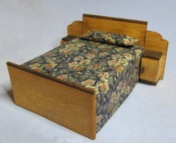Art Deco Bed With Cabinets Half-inch scale