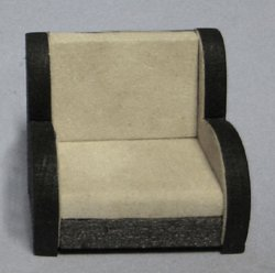 Art Deco Chair Half-inch scale