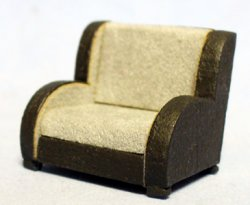 Art Deco Chair Quarter-inch scale