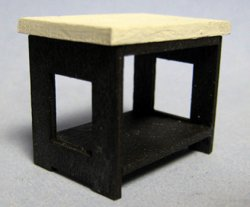Art Deco End Table Half-inch scale