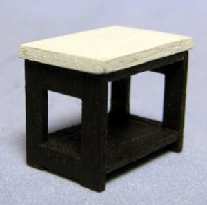 Art Deco End Table Quarter-inch scale