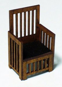 Arts and Crafts Era Chair Half-inch scale