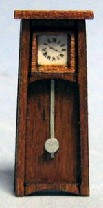 Arts and Crafts Mantle Clock Half-inch scale