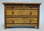 Arts and Crafts Era Small Dresser Half-inch scale