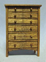 Arts and Crafts Era Tall Dresser Half-inch scale