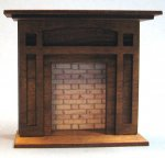 Arts and Crafts Era Fireplace Half-inch scale