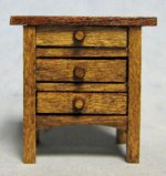 Arts and Crafts Era Nightstand Half-inch scale