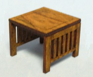 Arts and Crafts Era Side Table Half-inch scale