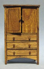 Arts and Crafts Era Wardrobe Half-inch scale