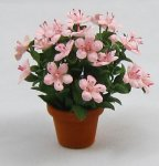 Azalea in a Terra Cotta Pot One-inch scale