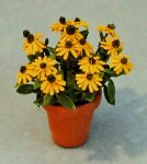 Black-eyed Susan in a Terra Cotta Pot Half-inch scale