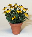 Black-eyed Susan in a Terra Cotta Pot One-inch scale