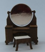 Bexley Dressing Table and Bench Half-inch scale