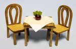 Cafe Table and 2 Chairs Half-inch scale