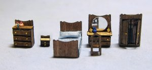Classic Bedroom Set 1/144th scale