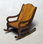 Fancy Rocking Chair Half-inch scale