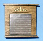 Fireplace Half-inch scale
