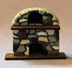 Arched Stone Fireplace 1/144th scale