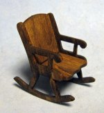 Grandma's Rocking Chair Half-inch scale