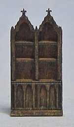 Gothic 2 Bay Bookcase 1/144th scale