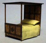 Gothic Canopy Bed Quarter-inch scale