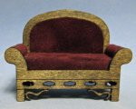 Gothic Upholstered Chair Half-inch scale