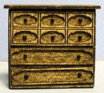 Gothic Chest of Drawers Quarter-inch scale