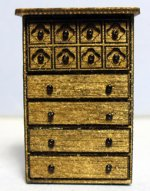 Gothic Tall Chest of Drawers Quarter-inch scale