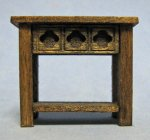 Gothic End Table Half-inch scale