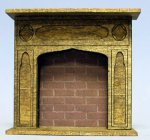 Gothic Fireplace Half-inch scale
