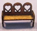 Heart Bench 1/144th scale