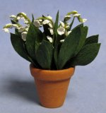 Lily of the Valley in a Terra Cotta Pot One-inch scale