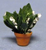 Lily of the Valley in a Terra Cotta Pot Quarter-inch scale