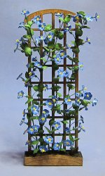 Morning Glory on a Trellis One-inch scale