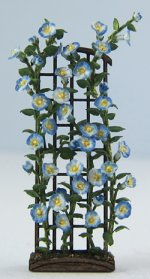 Morning Glory on a Trellis Quarter-inch scale
