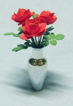 Roses in Vase One-inch scale