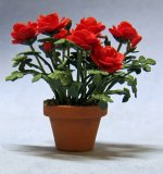 Roses in a Terra Cotta Pot Half-inch scale