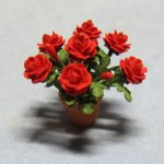 Roses in a Terra Cotta Pot Quarter-inch scale