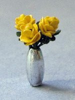 Roses in Vase Quarter-inch scale