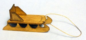 Antique Sled Half-inch scale